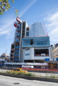 Shape of things to come: new Whitney building from West Side Highway, September 2013. Photo Timothy Schenck