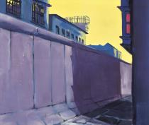 Rainer Fetting, First Painting of the Wall, 1977. Städel Museum, Frankfurt am Main. Photo: Städel Museum – ARTOTHEK. © Rainer Fetting