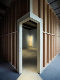 Robert Gober, Corner Door and Doorframe, 2014-2015. Photo: Attilio Maranzano. Courtesy Fondazione Prada.