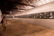 Madhusudhanan, Logic of Disappearance, installation view Aspinwall House, Kochi-Muziris Biennale. Courtesy Kochi-Muziris Biennale.