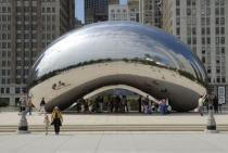 Anish Kapoor, Cloud Gate, 2004, Millennium Park, Chicago, Photo: Patrick Pyszka, City of Chicago, Courtesy of the City of Chicago and Gladstone Gallery, New York