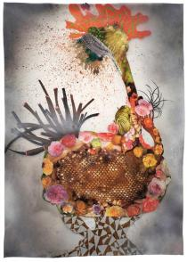 Wangechi Mutu, Botanical Arrangement Burst, 2011. Courtesy the artist and Gladstone Gallery New York and Brussels. Private Collection. � Wangechi Mutu