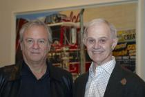 Louis K. Meisel and Ron Kleeman at the opening for �Picturing America�, Deutsche Guggenheim, Berlin, March 2009, Photo: Mathias Schormann