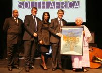 BASA Awards Ceremony: Sikkie Kajee � Chairman of Business and Arts South Africa, Peter Bruce � Editor of Business Day, Ms. Premilla Hamid � General Manager, Public Affairs � Anglo American, Mr. Colin Brown � Head of Corporate Affairs, Deutsche Bank South Africa, Lulu Xingwana � Minister of Arts and Culture