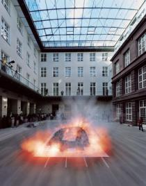 Cai Guo-Qiang Making of Vortex, Deutsche Guggenheim, Berlin 2006, Foto: Hiro Ihara, Courtesy Cai Studio