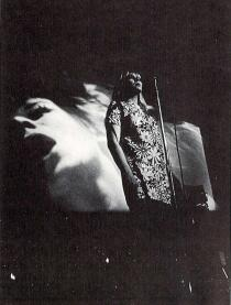 "Andy Warhol's ""Exploding Plastic Inevitable"" featuring Nico, at the University of Michigan campus in Ann Arbor, 1968"