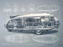 "Richard Buckminster Fuller, MOTORVEHICLE-DYMXION CAR, from the series ""Inventions:Twelve around one"", 1981, Deutsche Bank Collection"