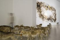 Cai Guo-Qiang, Head On, installation view, Deutsche Guggenheim, 2006