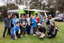 �Good Vibrations� was out on the road again visiting young people from Deutsche Community Care charity Open Family Australia. Photo: Amanda James