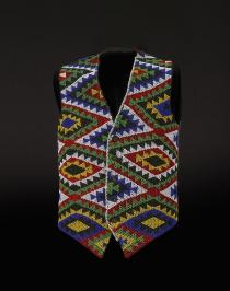 Zulu beaded waistcoat, South Africa, made before 1987 