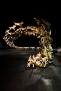 Cai Guo-Qiang, Head On, installation shot, National Museum of Singapore. Photo: John Yuen, Fotograffiti