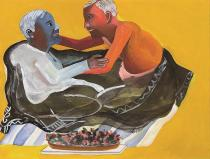 Bhupen Khakhar,  Grey Blanket, 1998