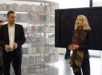 "Massimiliano Gioni, Chief Curator New Museum, and Lynne Cooke, curator of ""A Cosmos"". Photo @ Cheryl Kaplan"