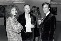 Former Solomon R. Guggenheim Museum Director (then Assistant Curator) Lisa Dennison, Richard Estes, and Louis K. Meisel at the opening for �Seven Photorealists from New York Collections�, Solomon R. Guggenheim Museum, New York, October 1981