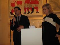 Max Hollein, Director of the St�del Museums in Frankfurt, and Dr. Christina Schroeter-Herrel, Director of Art Consulting, Private Wealth Management Deutsche Bank