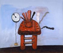 Philip Guston, The Studio Bench, 1978. Private collection © The Estate of Philip Guston