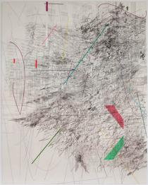 Julie Mehretu, Mogammma (A Painting in Four Parts), 2012. Part 1. Courtesy the artist; Marian Goodman Gallery, New York,Paris; White Cube, London. Photos: Anders Sune Berg