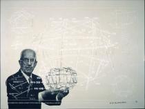 "Richard Buckminster Fuller, NON-SYMMETRICAL TENSION-INTEGRITY STRUCTURES, from the series ""Inventions:Twelve around one"", 1981, Deutsche Bank Collection"
