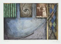 Jasper Johns, Untitled, 1999. Intaglio. � Jasper Johns/ Universal Limited Art Editions, 1999/ Licensed by VAGA, New York, NY.