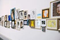 Zhu Jia, The Face of Facebook, 2012, installation view. Courtesy ShanghART Gallery.