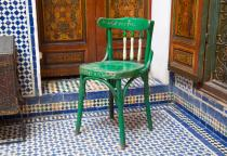 Mona Hatoum, Green Chair. Courtesy Marrakech Biennale 6 NOT NEW NOW. Copyright Jens Martin