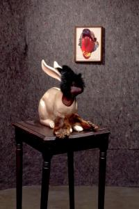 Wangechi Mutu, Bunny Trap, detail view, 2008; Collection of the artist; Photo: 	