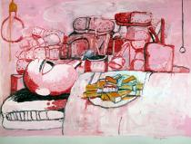 Philip Guston, Painting, Smoking, Eating, 1973. Collection Stedelijk Museum, Amsterdam