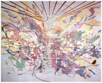 Julie Mehretu, Looking Back to a Bright New Future, 2003, � Courtesy carlier | gebauer