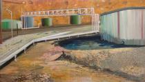 Eva Strubel, Molasses and Asphalt Tanks, 2009. Courtesy of Lombard Freid Projects