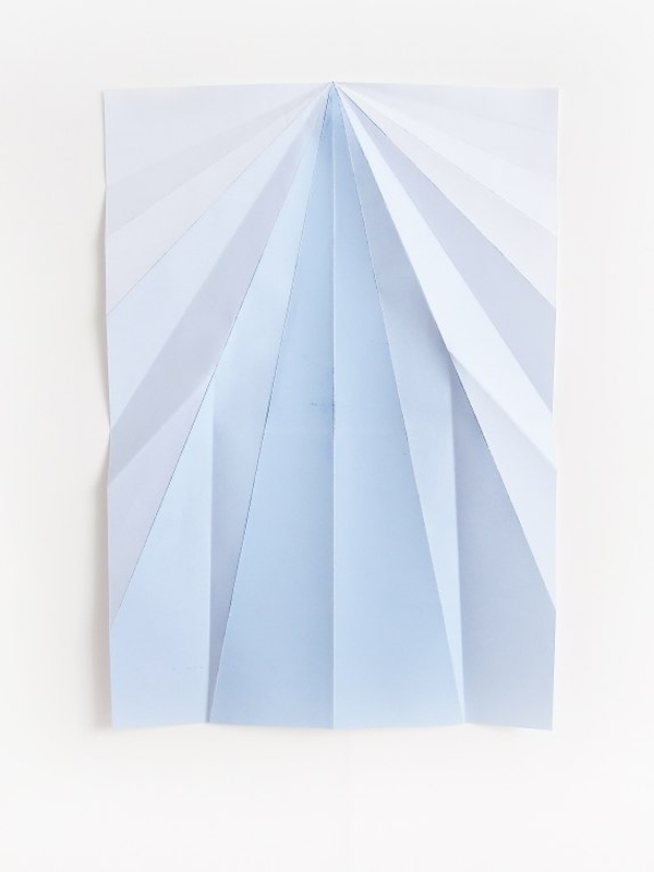 Caline Aoun, Blue Paperplane, 2011. © Caline Aoun