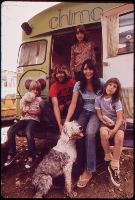 David Hiser, The Painted Bus is Home, 1972 (US National Archives)