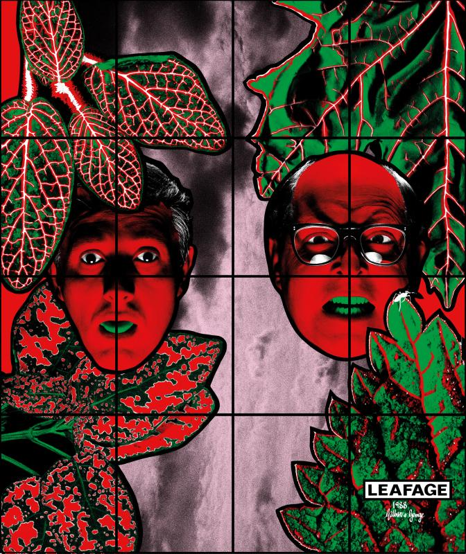 Gilbert & George, LEAFAGE, 1988. Courtesy of Gilbert & George