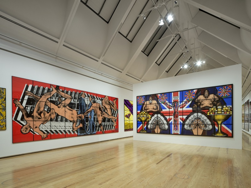 Gilbert & George: The Great Exhibition, exhibition view. © Schirn Kunsthalle Frankfurt, 2021. Photo: Norbert Miguletz