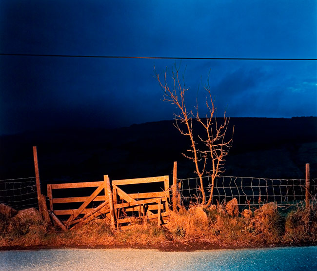 Gerard byrne a country road a tree evening glencullen between